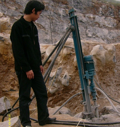 Drilling in the slope direction