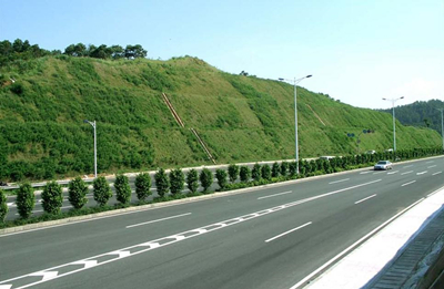 hydroseeder used in highway slope greening