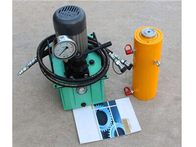 double acting hydraulic cylinder with oil pump