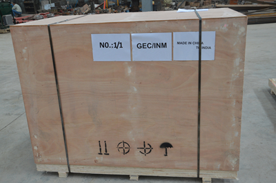 Full plywood box package of gunning machine