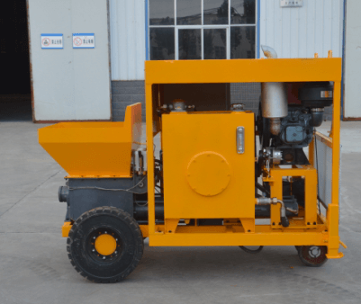 diesel mini concrete pump for wall construction