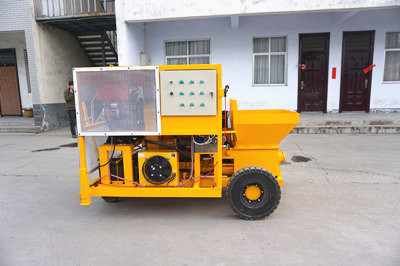 concrete mixer pump with electric motor