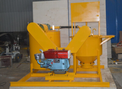 diesel engine drive high shear grout mixer and agitator