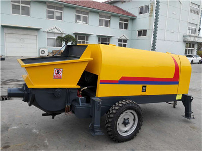 stationary concrete pump specification