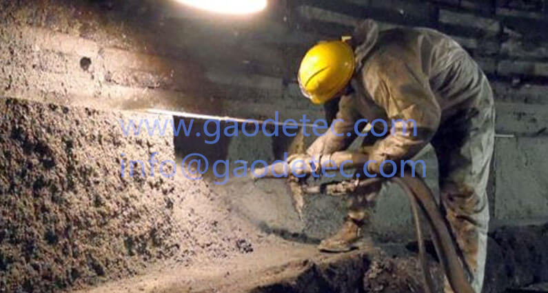Refractory repair for iron & steel works