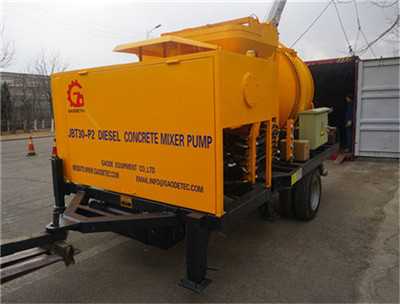 concrete pump with mixer company