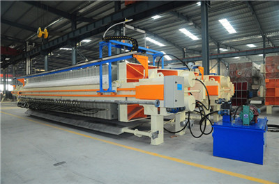 filter equipment to treat the paper pulp sludge