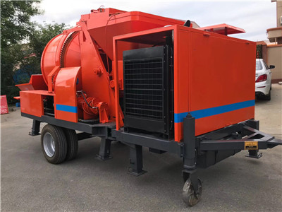 high quality concrete mixer with pump