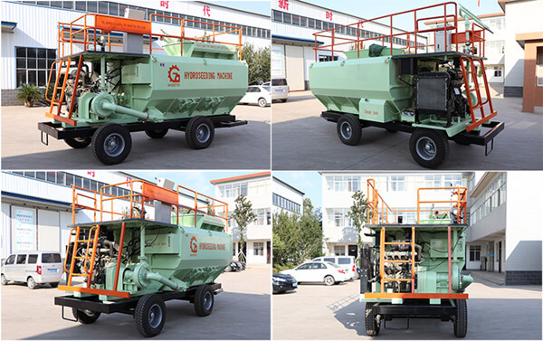 hydroseeder slope greening machine