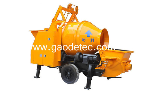 China hydraulic concrete pump with mixer