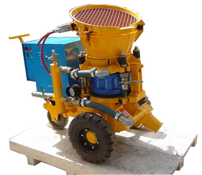 Electric motor gunite machine