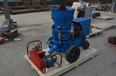 Blue color refractory gunning machine