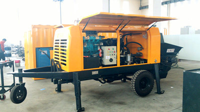 Energy saving stationary concrete pump