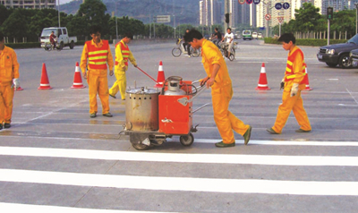 hand push thermoplastic road marking