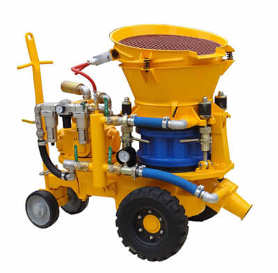Air motor gunite machine