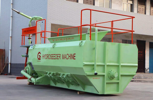 Grass seeds spraying machine for virescence engineering
