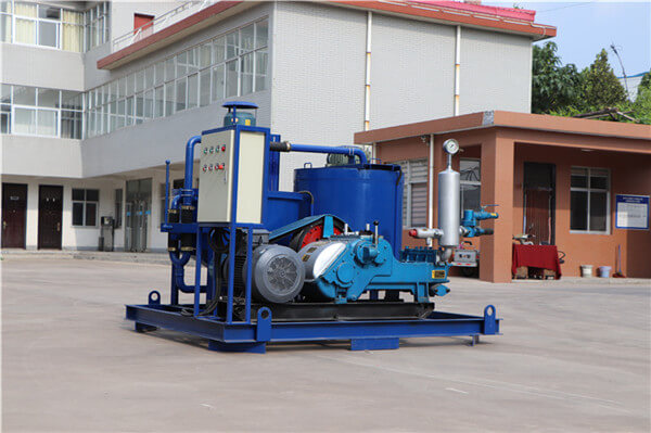 combination grout mixer and pump