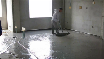 the leveling method of floor-heating foamed cement insulation layer
