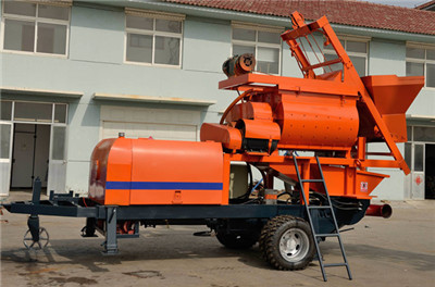 Electrical concrete pump with mixer