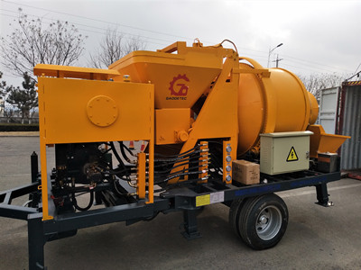 portable concrete mixer with pump
