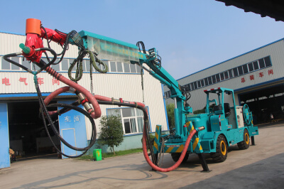 telescope arm concrete spraying manipulator