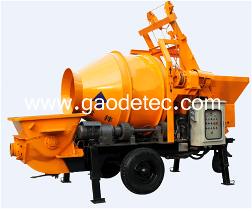 concrete pump with mixer from China