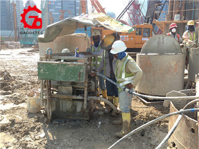 grouting pump and mixing unit