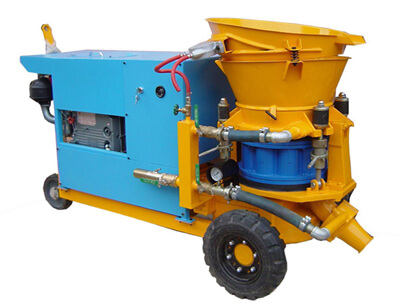 Diesel engine gunite machine