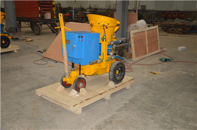 refractory gunning machine for castable refractory material
