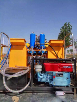 road marking machine with piston pump