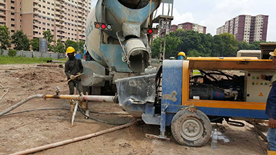Grout concrete pumps