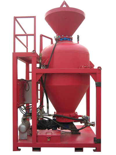 Refractory gunite machine for steel plant