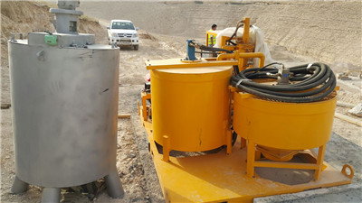 injection plant in dam project