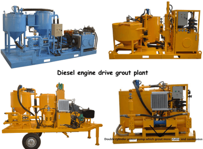 high output grout injection plant Singapore