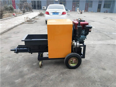 Screw type plaster machine