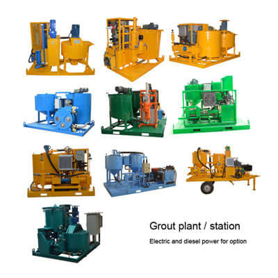 Colloidal grout plant for heavy grouting construction