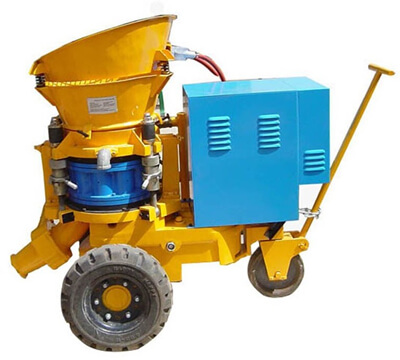 spraying concrete Shotcrete machine