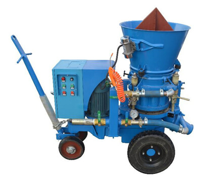 Refractory gunite machine