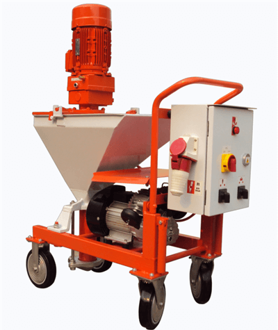 Mortar spraying machine application