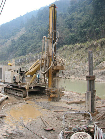 hydraulic anchoring engineering rig