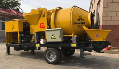 trailer diesel concrete pump
