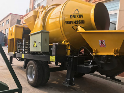 positive and negative pumps of trailer diesel concrete pump