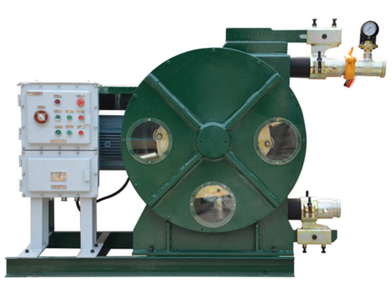 industrial hose pump for pumping oil sludge and slurry