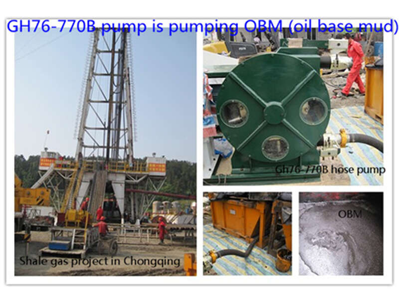 squeeze pump for pumping sludge