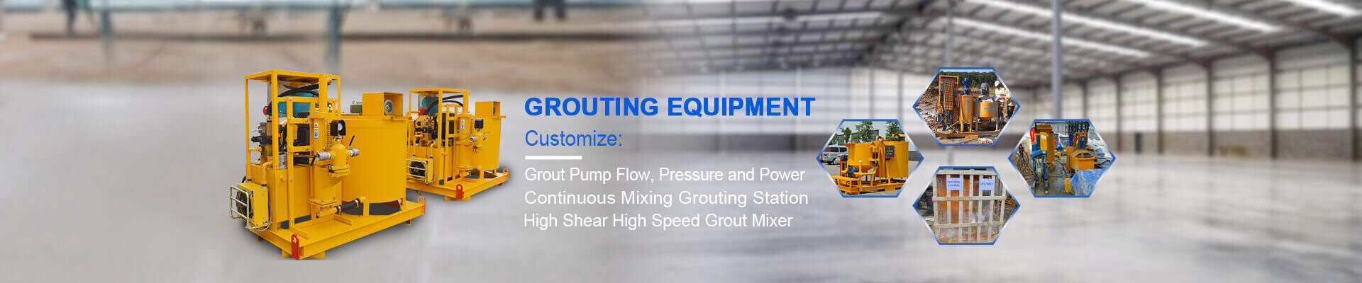 Grout plant grout mixing plant grouting injection plant grout pump grout grout mixer and agitator