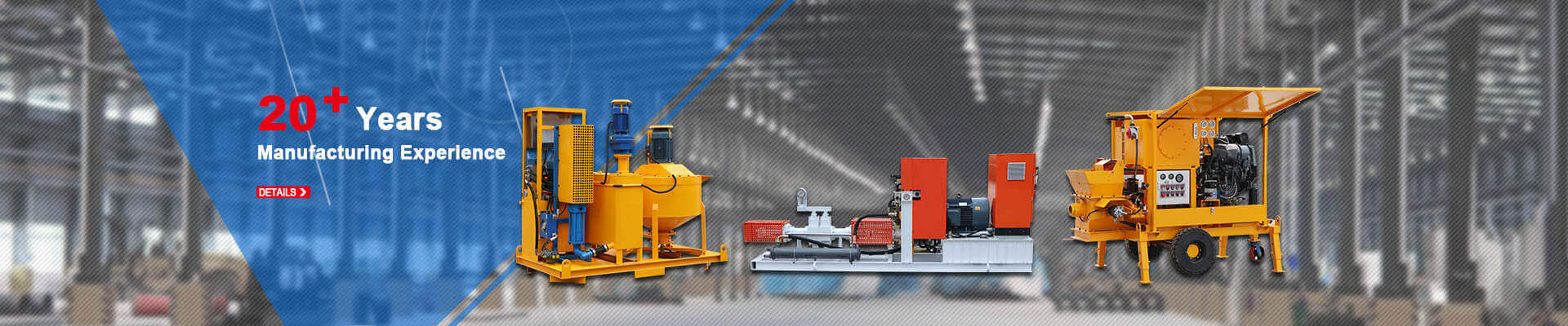 grout plant, wet shotcrete machine, refractory gunite machine
