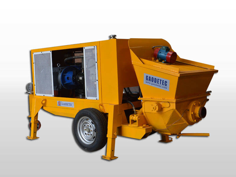 electric trailer concrete pump machine