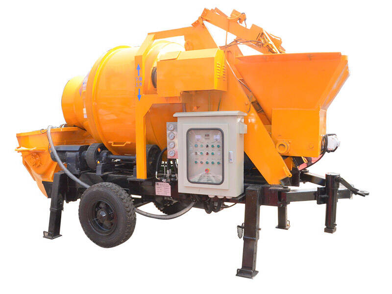 concrete pump with mixer