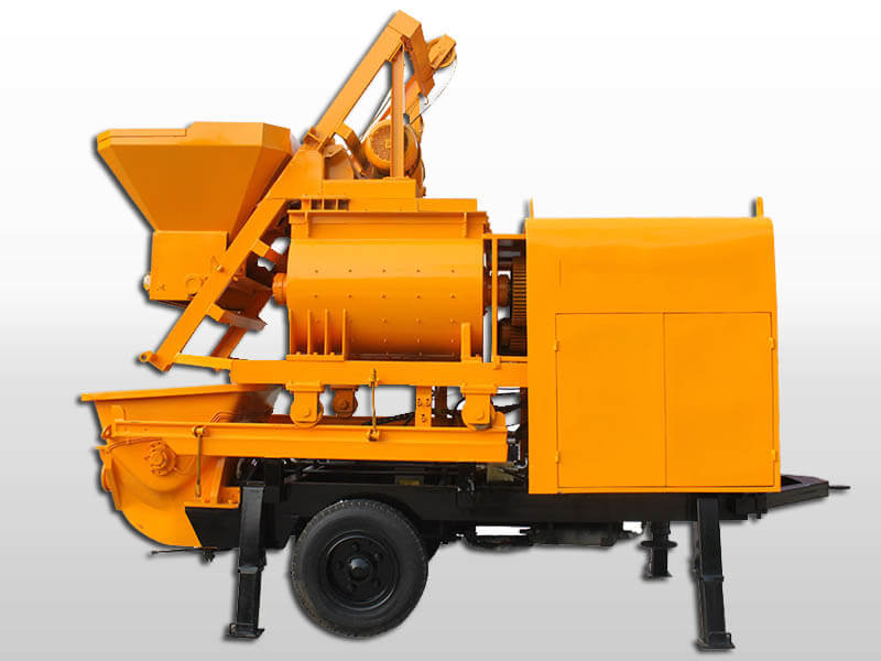 trailer concrete pump with mixer