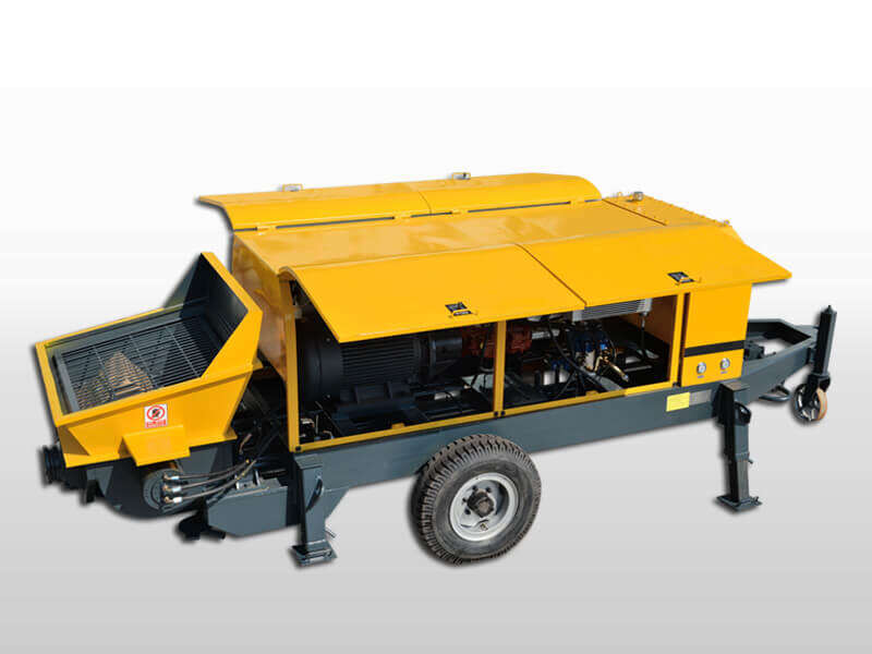 electric concrete trailer pump